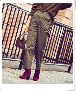 大人の女性に似合うベイカーパンツ